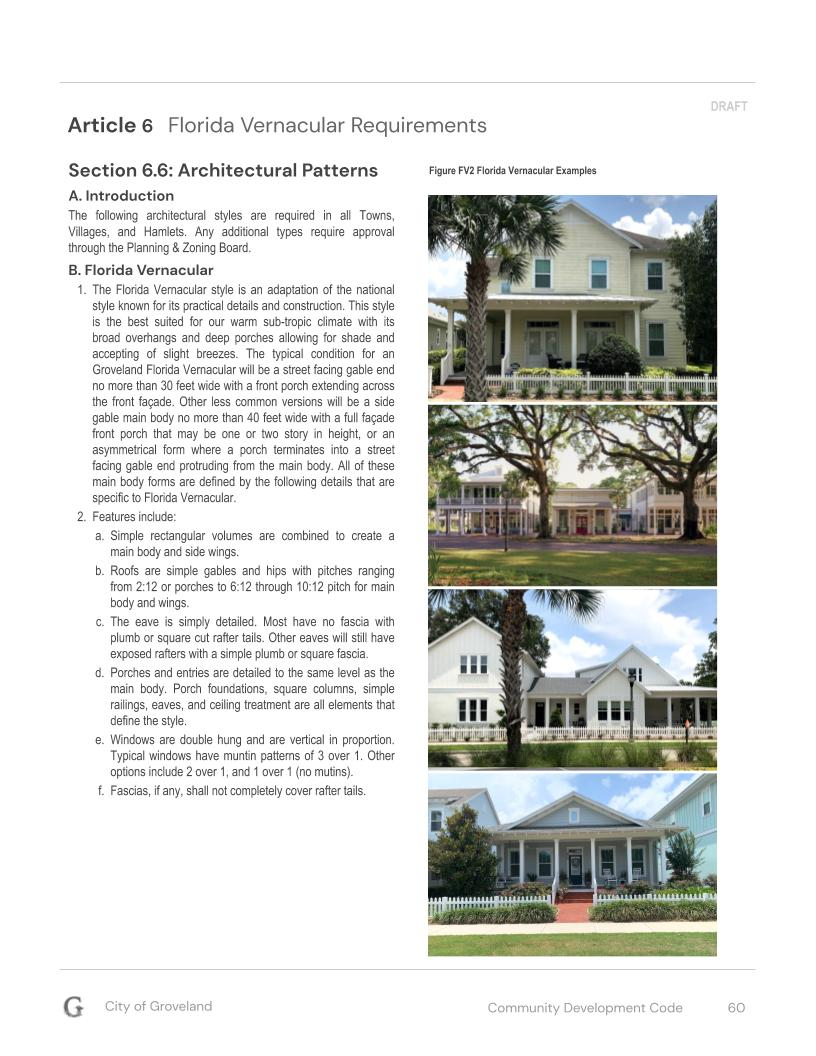 Community Development Code - Florida Vernacular
