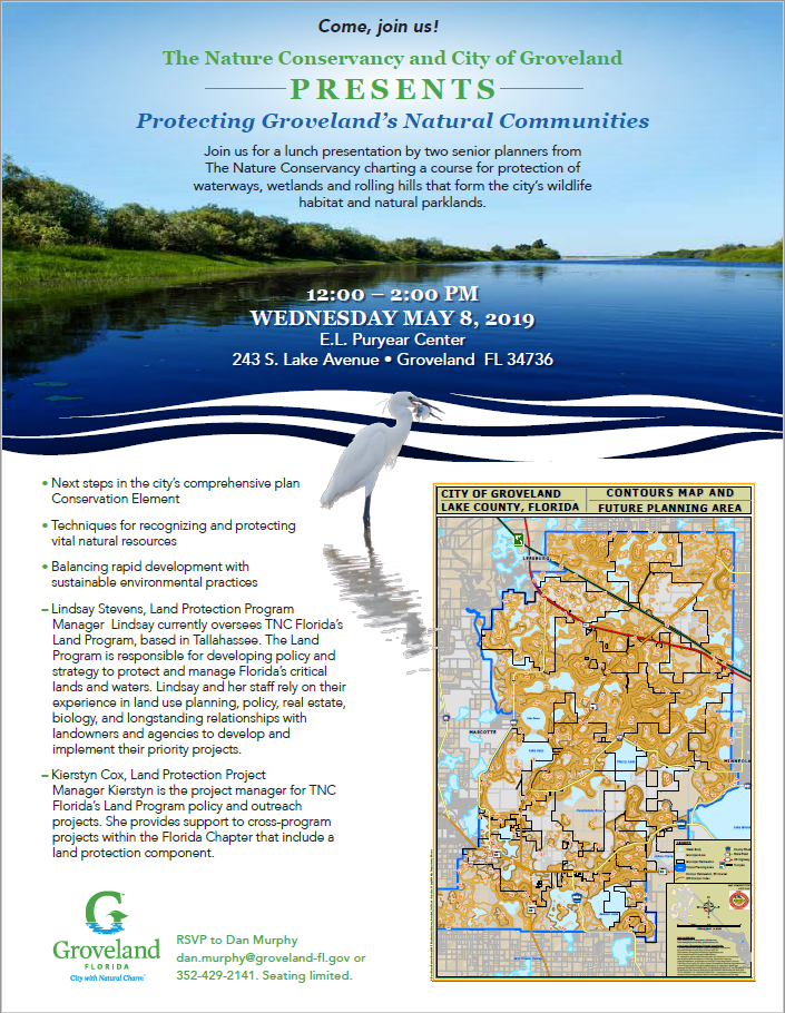 The Nature Conservancy and City of Groveland Presents: Protecting Groveland's Natural Communities